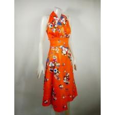 Thai dress Flower pattern Orange