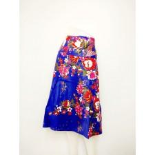 Thai Flower Skirt, Dark Blue