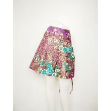 Thai Flower Skirt, Purple